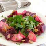 Салат из кресса и свеклы