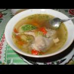 Абхазский суп с перепелами