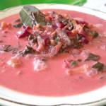 Суп сырный со свеклой