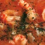 Кизиловый суп с морепродуктами