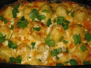 Конина с картофелем и овощами