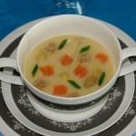 Молочный суп из спаржи