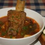 Суп из рёбрышек с фасолью