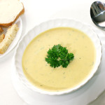 Суп с сыром брынза и кукурузой