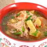 Вермишелевый суп со свининой