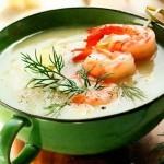 Крем-суп из морепродуктов со сливками