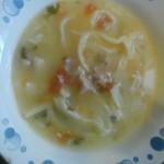 Сырный суп с домашней лапшой