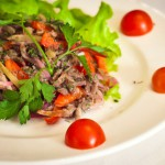 Итальянский салат с телятиной и болгарскм перцем