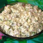 Салат с копченым мясом и черносливом