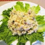 Салат с телятиной и рисом