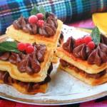 Вафельное пироженое