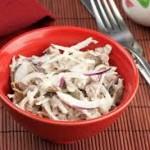 Салат с говядины и редиски