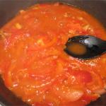 Омар в томатно-коньячном соусе