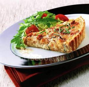 Пирог с крабами и сыром «Бри»