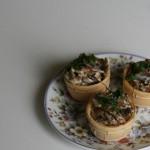 Устрицы в корзиночках или волованах в соусе