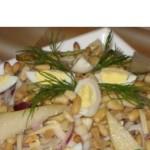 Салат из кальмаров с грушей