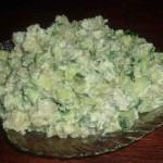 Салат из картофеля и огурцов